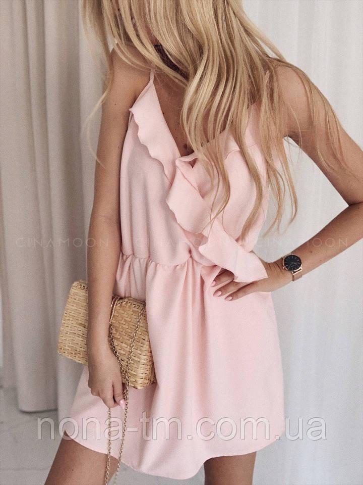 53e55b9fd937 Женское нежное платье с рюшами - Bigl.ua