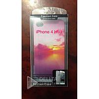 Бампер для телефона Iphone 4G Аpple, разные цвета /рисунки HT-1, Чехол для айфона, чехлы для айфонов