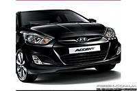 Защитные велюровые накладки на карты дверей для Hyundai Accent 2012