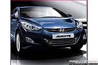 Защитные велюровые накладки на карты дверей для  Hyundai Elantra MD