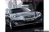 Защитные велюровые накладки на карты дверей для Hyundai Genesis Coupe