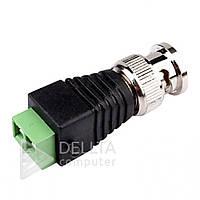 Переходник для видеонаблюдения BNC conector, до 1 Вт, адаптер для видеонаблюдения, видео переходник