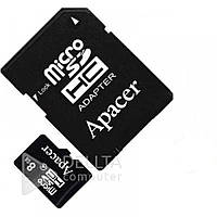 MicroSD карта Apacer class с адаптером class 10, на 8G, пластик, MicroSD карты памяти, Microsd Transcend, Карты памяти