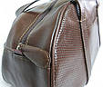 Сумочка женская кожаная 4023 коричневая, фото 9