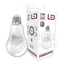 Светодиодная лампа Наша Сила 12W, E27, 3000k, 1250Lm, груша, Лампа LED Наша Сила E27, лампочки