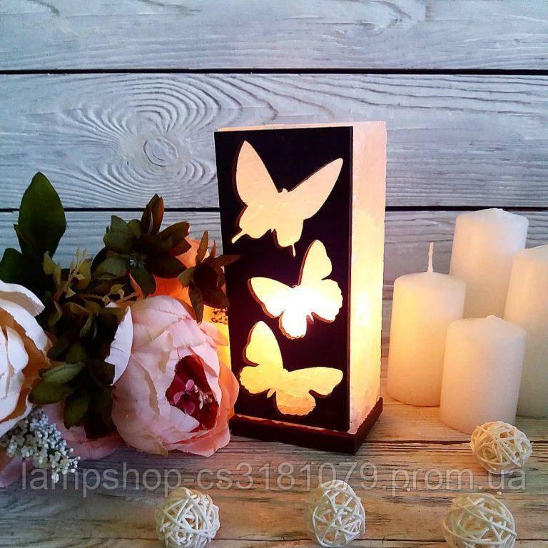 Соляная лампа «Бабочки» 2кг
