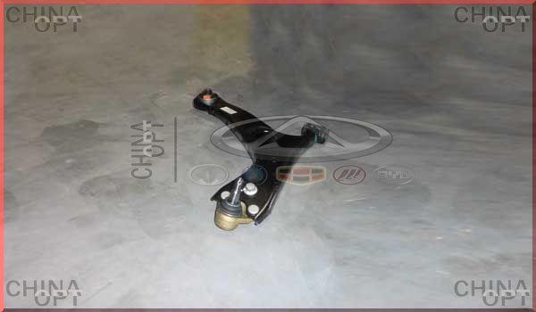 Рычаг передний правый, в сборе, с шаровой, Chery Tiggo [1.6, до 2012г.], T11-2909020, Aftermarket