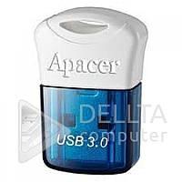 Миниатюрный USB-накопитель Flash Apacer AH157 синий, 8Gb, usb 3.0 и 2.0, USB Flash, Флешки, Флеш-память usb