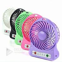 Мини - вентилятор USB mini fan xsfs-01  работает от аккумулятора, угол наклона регулируется, разные цвета, высокая скорость вращения