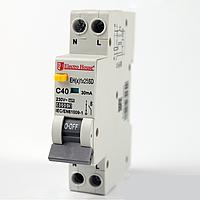ElectroHouse ДИФ Автомат 25А 1P+N(1 модуль) 6kA  EH(x) 1x25SD