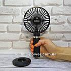 Портативный мини-вентилятор Handy Fan S8 Black. Ручной вентилятор с аккумулятором S8 Черный, фото 2