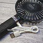 Портативный мини-вентилятор Handy Fan S8 Black. Ручной вентилятор с аккумулятором S8 Черный, фото 7