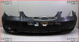 Бампер передний, пластик, черный, не крашеный, BYD F3 [1.6, до 2010г.], BYDF3-2803111, Aftermarket