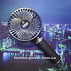 Портативный мини-вентилятор Handy Fan S8 Black. Ручной вентилятор с аккумулятором S8 Черный, фото 9