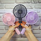 Портативный мини-вентилятор Handy Fan S8 Black. Ручной вентилятор с аккумулятором S8 Черный, фото 10
