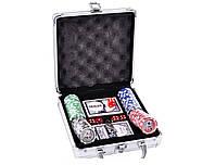 Покерный набор с наминалом в металлическом кейсе №100N