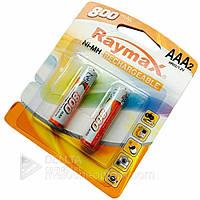 Аккумуляторные батарейки Raymax HR03 ААА, 800 mAh, 2 шт, Ni-MH, 1.2В, аккумуляторы 800mAh, аккумуляторы ААА