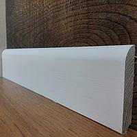 Плинтус дубовый, крашенный в белый цвет-евро 70*13мм.
