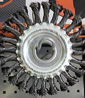 Щітка дискова - 125мм плетена