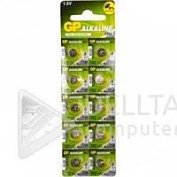 Батарейка - таблетка GP 2020 LR41 192 в блистере, 1.5V, батарейки GP, батареи, Батарея, таблетка