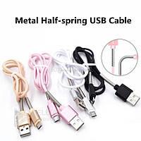 Micro USB Кабель v8 (Half Spring) с пружинкой в асс.