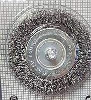 Щітка дискова по металу для КШМ гофрований дріт 150 х 18х 32