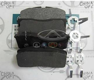 Колодки тормозные передние, с ABS, Geely CK2, 3501190005, Aftermarket