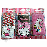 Чехол- книжка для телефона Iphone 4G Paul Frank Leather GD-13, розовый с принтом Kitty, искусственная кожа, Чехол-книжка на смартфон