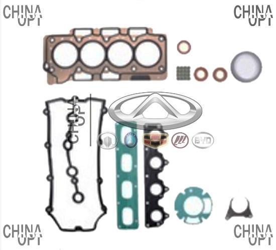 Прокладки двигателя / комплект прокладок + сальники, 484H, Chery Eastar [B11,2.4, ACTECO], 484H-0101111, Aftermarket