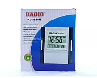 Электронные настольные часы Kadio KK 3810  импульсный, 12В, 15А, от  сети 220В, серые, пластик, римские цифры