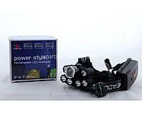 Налобный фонарик Bailong BL T78 ударопрочный пластик, Т6, от аккумуляторов, до 800 м, 7 светодиодов, черный