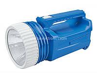 Фонарик ручной Yajia YJ 2830 синий, 1W, 200lumen, аккумулятор, пластик, до 150 м, 20 диодов