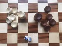 Набор шашек фишек деревянных для нард и шашек 21 мм