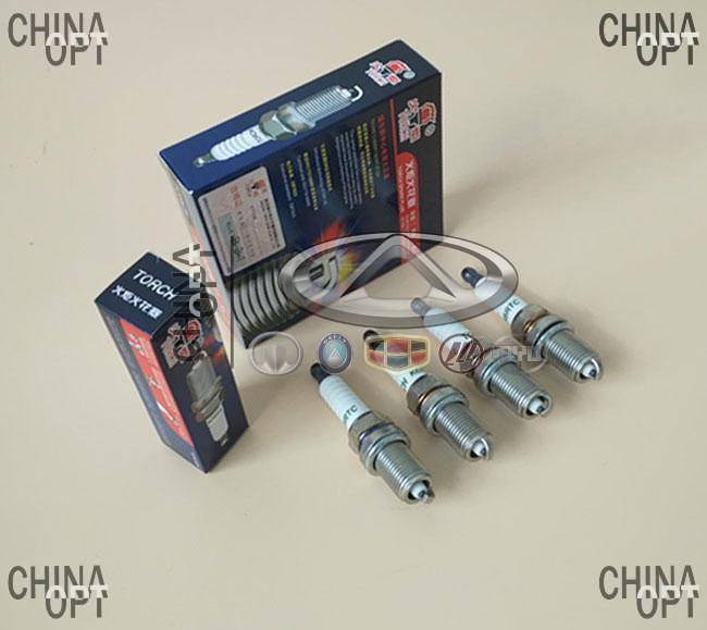 Свечи зажигания, комплект, 479Q, 481Q, Geely CK2, E120300005, TORCH