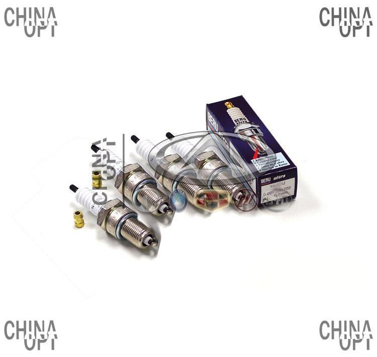Свечи зажигания, комплект, 491Q, Great Wall Deer [4X4, 2.2], 3707010-E01, BERU