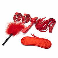 Бондажно любовный набор госпожи садо-мазо БДСМ Aurea Красный