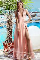 Красивое женское вечернее платье в пол с открытой спиной из мягкого приятного телу микромасла , фото 1