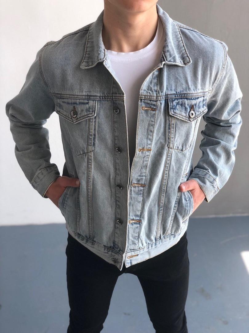 Мужская джинсовка (Пальма), синяя джинсовая куртка, классическая светло-синяя джинсовка