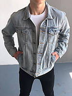 Мужская джинсовка (Пальма), синяя джинсовая куртка, классическая светло-синяя джинсовка, фото 1