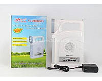 Светильник / фонарь ручой с радио YJ 2885SY белый, 23Led, SMD, пластик, от батареек AA, 3 режима, USB, шнур