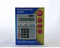 Калькулятор бухгалтерский AX 9800V, память двойная, разрядов 12, габариты 155х200х48 мм, электронный калькулятор