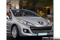 Защитные велюровые накладки на карты дверей для Peugeot 207 CC