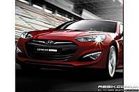 Защитные велюровые накладки на карты дверей для Hyundai Genesis Coupe new