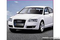 Защитные велюровые накладки на карты дверей для Audi A6 (~2011)