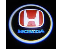 Дверной проектор логотипа Honda 004 2 шт, 5W, 150-180 lm, 12V, LED, защита от пыли и влаги, сплав алюминия /стекло