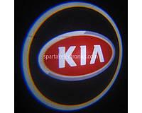 Дверной проектор логотипа KIA 100 2 шт, 5W, 150-180 lm, 12V, LED, защита от пыли и влаги, сплав алюминия /стекло