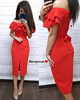 Платье с рюшами Альбина, фото 1