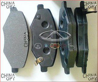 Колодки тормозные передние, 6GN, без пружинок, Chery Amulet [до 2012г.,1.5], A11-6GN3501080, Hi-Q