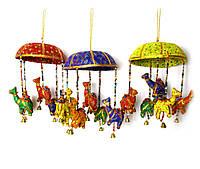 "Подвеска с колокольчиком ""верблюды"" ткань (35х13х13 см)"