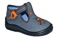 Детские летние туфельки для мальчика с застёжкой (Серые)